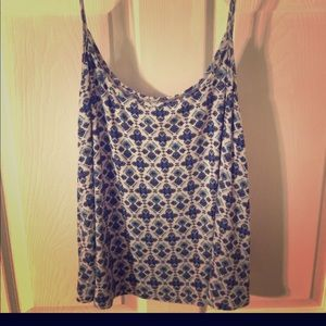 Soft and Flowie top with blue patterns